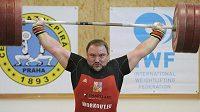 Jiří Orság na mistrovství ČR ve vzpírání.