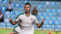 Tomáš Necid v dresu Bursasporu se raduje z gólu.