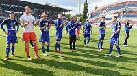 Hráči Olomouce se loučí s domácími vlajkonoši a první ligou.