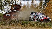 Elfyn Evans během Finské rallye.