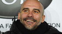 Pep Guardiola na lavičce Manchesteru City