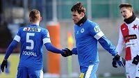 Slovan Liberec hledá náhradu za Michaela Rabušice (uprostřed), který odešel do italské Verony.