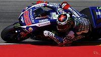 Španělský motocyklista Jorge Lorenzo byl v pátečních trénincích na Velkou cenu Aragonie v kategorii MotoGP nejrychlejší.
