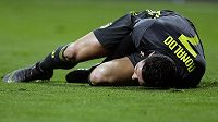 Souboje s říznou obranou Atlétika Madrid hvězdného Cristiana Ronalda bolely.