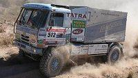 Tomáš Tomeček na trati 5. etapy Rallye Dakar.