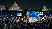 Jeden z nejprestižnějších squashových turnajů se uskutečnil u egyptských pyramid.