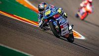 Český motocyklista Filip Salač dobře rozjetou Velkou cenu Aragonie po pádu z šestého místa nedokončil.