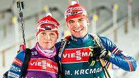 Eva Puskarčíková s Michalem Krčmářem v Östersundu.