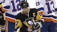 Zklamaný kapitán Pittsburghu Sidney Crosby po vyřazení