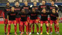 Pro dodržování lidských práv v Kataru se vyslovili také fotbalisté Belgie.