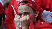 Dánští fotbalisté byli po zranění Eriksena v šoku