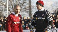 Tomáš Řepka a Jaromír Blažek v dresu Sparty před silvestrovským derby se Slavií.