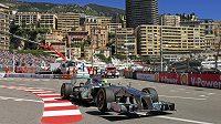 Nico Rosberg s vozem Mercedes při měřeném tréninku na Velkou cenu Monaka.