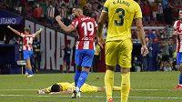 Zápas třetího kola španělské fotbalové La Ligy mezi Atléticem Madrid a Villarrealem