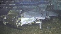 Snímky letadla, kde zahynul fotbalista Sala.