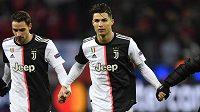 Cristiano Ronaldo slaví postup do osmifinále Ligy mistrů