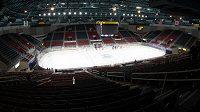 Nikde nikdo, zápas v zámořské soutěži AHL mezi Charlotte Checkers a Bridgeport Sound Tigers se odehrál prázdným hledištěm.