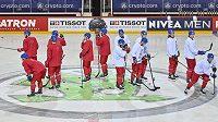 Dopolední rozbruslení českého hokejového týmu před odpoledním utkáním skupiny A mistrovství světa proti Dánsku.