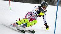 Gabriela Capová při slalomu Světového poháru v Záhřebu.