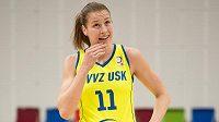 Basketbalistka Kateřina Elhotová z USK Praha.