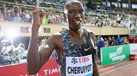 Mistr světa v běhu na 1500 metrů Timothy Cheruyiot