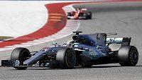 Lewis Hamilton z Británie v Austinu