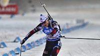 Ondřej Moravec v cíli sprintu při SP v Novém Městě.