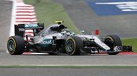 Pilot Mercedesu Nico Rosberg během prvního tréninku na nedělní Velkou cenu Bahrajnu.