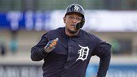 První metař Detroitu Tigers Miguel Cabrera během přípravného zápasu Spring League. Ilustrační foto.