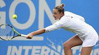 Kristýna Plíšková na turnaji v Eastbourne.
