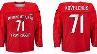 Dresy, které budou ruští hokejisté oblékat na olympijských hrách 2018: