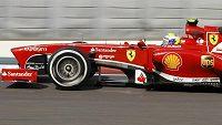 Felipe Massa ještě v monopostu ferrari.