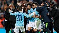 Veliká radost fotbalistů Manchesteru City