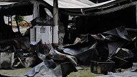 Při požáru zahynulo deset mladých hráčů a tři další byli zraněni.