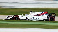 Felipe Massa s vozem Williams při testech v Barceloně.