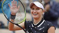 Markéta Vondroušová slaví postup do finále French Open