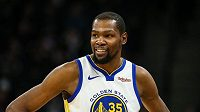 Americký basketbalista Kevin Durant v dresu Golden State Warriors.