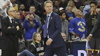 Trenér basketbalistů Golden State Steve Kerr