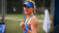Eugenie Bouchardová na turnaji v Praze