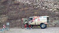 Oprava kamiónu Aleše Lopraise