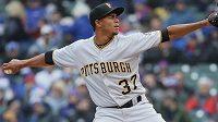 Baseballista Edgar Santana z týmu Pittsburgh Pirates