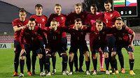 Česká reprezentace do 21 let před zápasem s Litvou