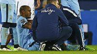 Vincent Kompany kvůli zranění odstupuje z utkání s Leicesterem