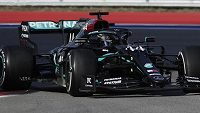 Lewis Hamilton dojel na třetím místě