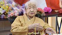 Nejstarší žijící člověk na světě Kane Tanakaová
