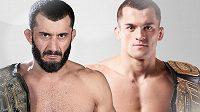Mamed Khalidov (vlevo) se v souboji o šampiona střední váhy postaví Robertu Soldićovi.