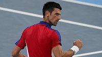 Srb Novak Djokovič si v Tokiu ve třetím kole snadno poradil se Španělem Alejandrem Davidovichem