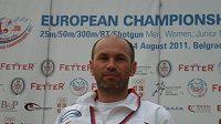 Miroslav Januš se zlatou medailí z ME v Bělehradě.