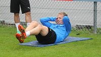 Plzeňský fotbalista David Limberský během přípravy Viktorie na novou sezónu.