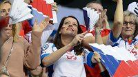 Čeští florbaloví fanoušci dorazili i do Rigy, v Praze bude jejich podpora ještě mnohonásobně vyšší.